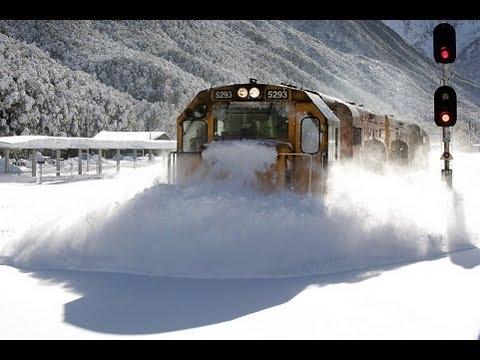 Trem vs Neve na Nova Zelândia